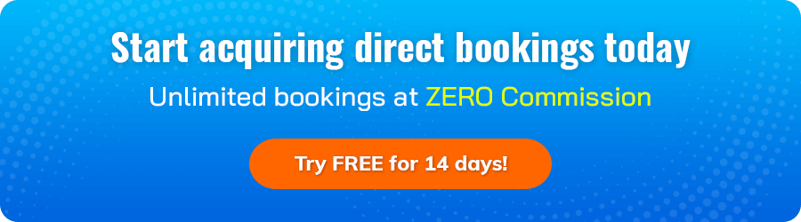 Give a try to our booking engine to increase direct bookings on your hotel website