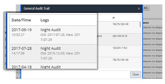 Night Audit - Audit Trails